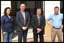 Los responsables municipales, junto al delegado de Salud y Binestar Social, Ricardo Ruiz.