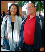 La primera teniente de Alcalde, Almudena Correal, junto al presidente del Consejo de Mayores, Rafael Blanco del Moral.