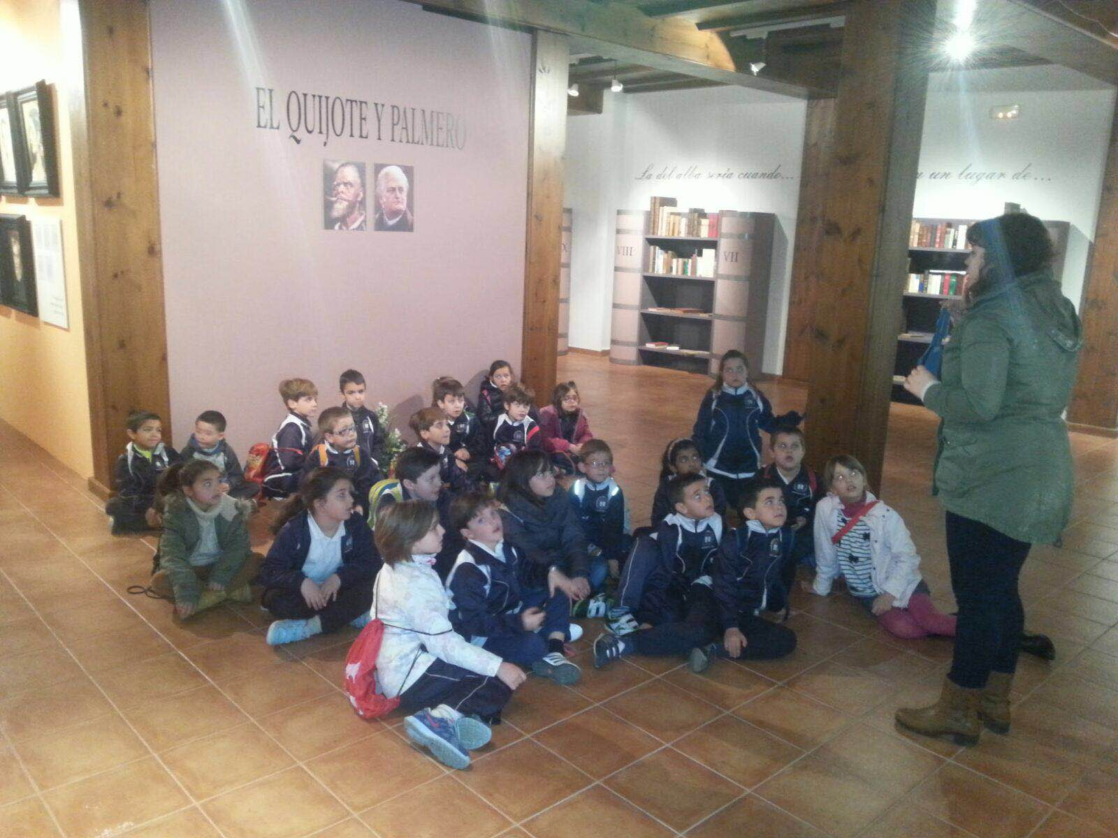 visita colegio a expo  los quijotes de Almodovar y Palmero 2