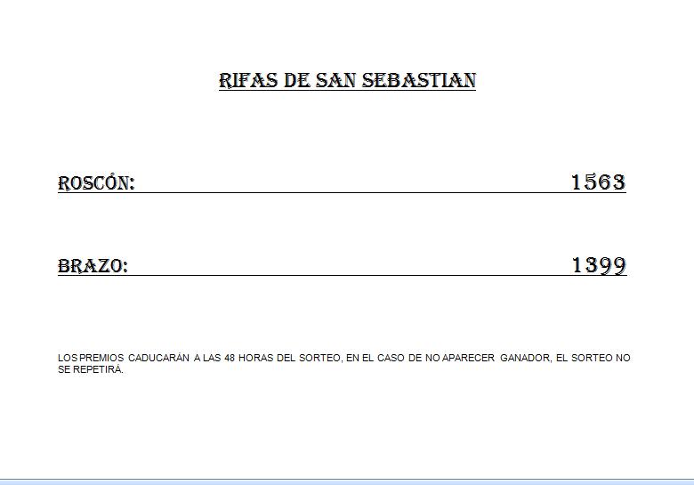 Rifas de San Sebastián b