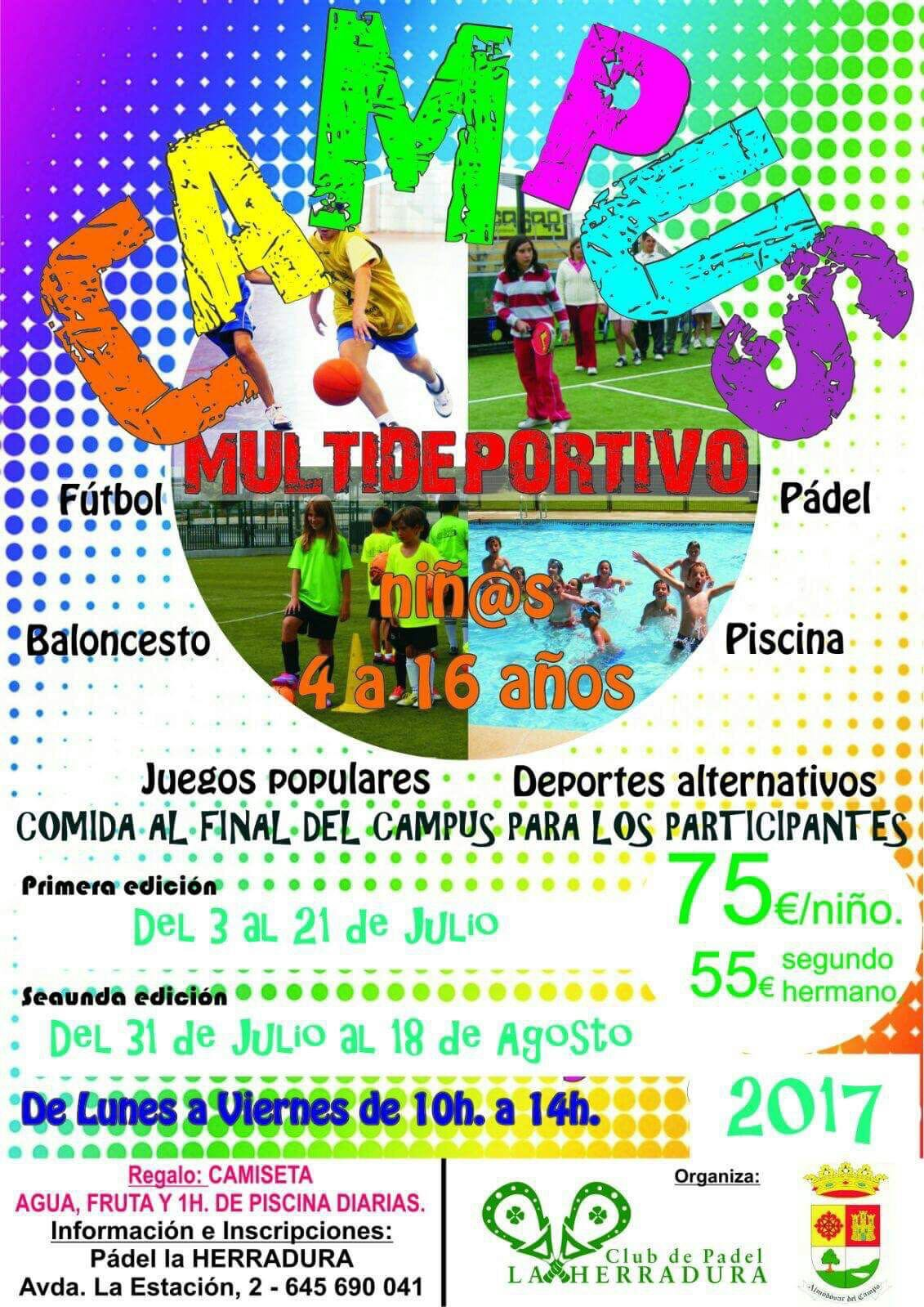 Cartel del Campus Multideportivo 2017