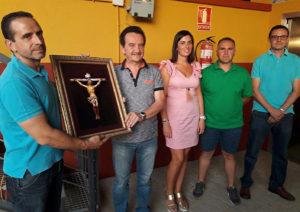 La imagen del Cristo de la Caridad, donada a la capilla del Multifuncional