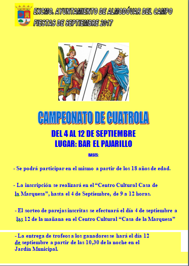 Cartel cuatrola