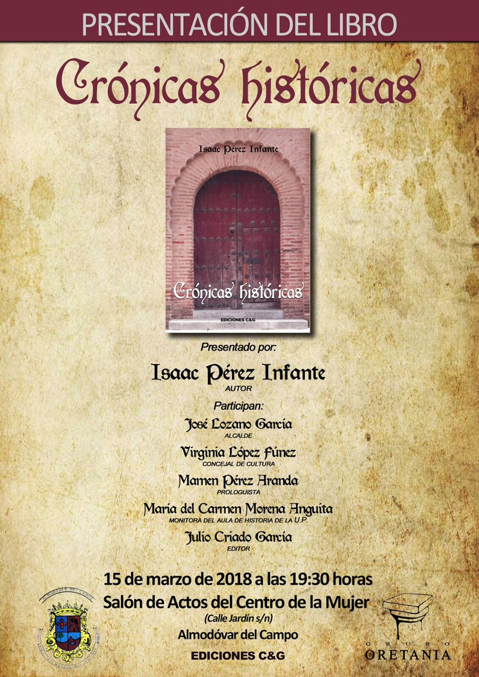 Cartel anunciador de 'Crónicas históricas'