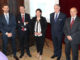 Autoridades y responsables de la Gas Natural Fenosa Renovables, al término del acto