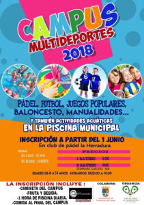 Cartel Campus Multideportes 2018