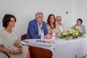 Velascoín, Lozano, Ramírez, Peinado y el doctor Espinosa, durante las intervenciones iniciales