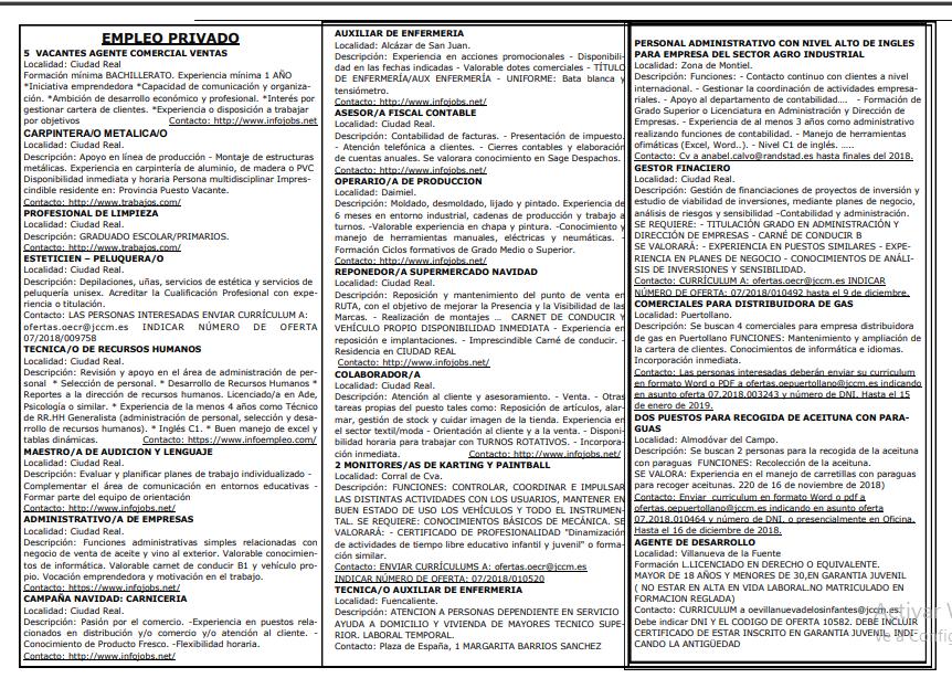 Boletín empleo nov 2 quinc 2
