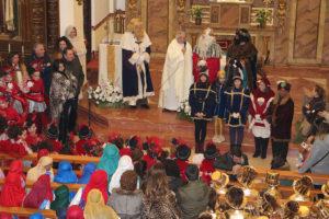 Un momento de la recepción parroquial