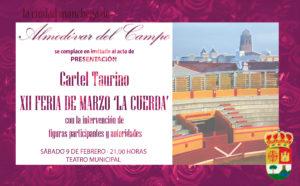 Invitación Cartel Taurino Fería de Marzo 2019
