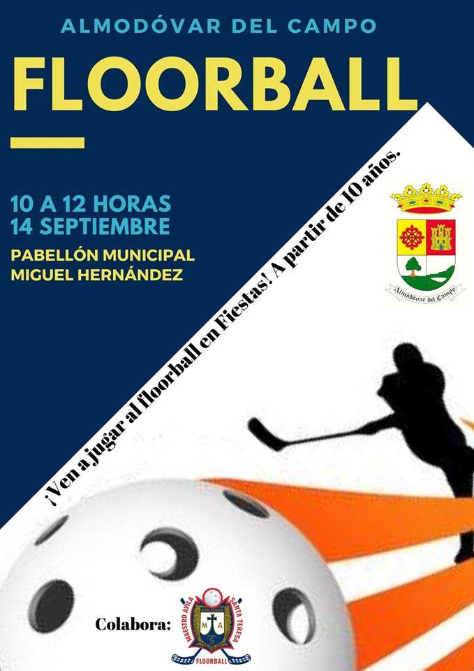 Cartel Floorball Feria y Fiestas 2019
